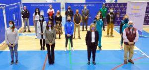 Diputadas de Igualdad y Deporte con loa clubes almerienses